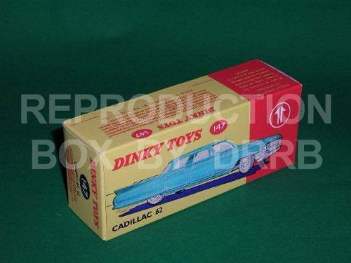 Dinky #147 Cadillac 62 - Reproduction Box